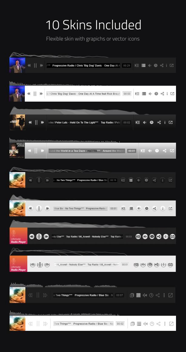 Ultimate Radio Player WordPress Plugin - 12